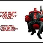 Hellboy Xmas Card